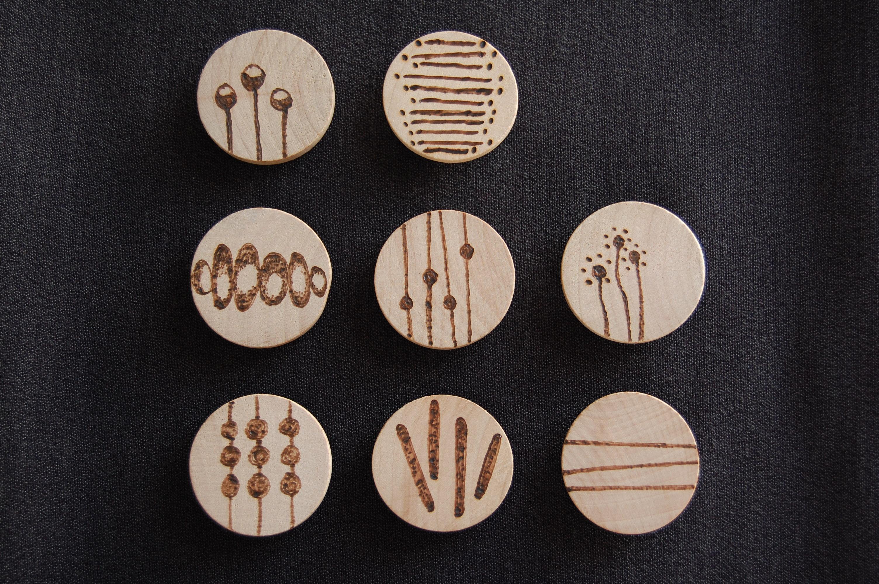 whatchabuildin wooden magnets